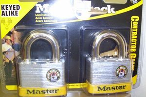 LAMINATED STEEL KEYED ALIKE LOCK